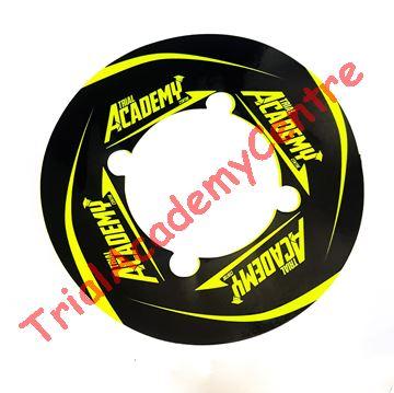 Immagine di Adesivo corona Trial Academy 41-46 Black e Fluo