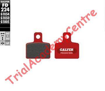 Immagine di Pastiglie freno posteriore Galfer rosse FD224