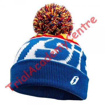 Immagine di Cappello di lana con pon pon Jitsie White/Blue