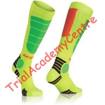Immagine di Calzino Acerbis Mx impact junior Fluo orange/fluo yellow