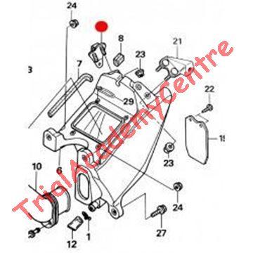 Immagine di Staffa supporto parafango posteriore dx Montesa 4RT