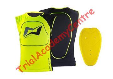 Immagine di Gilet traspirante con protezione schiena Mots Yellow fluo