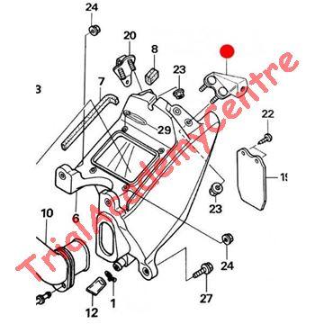 Immagine di Staffa supporto parafango posteriore sx Montesa 4RT