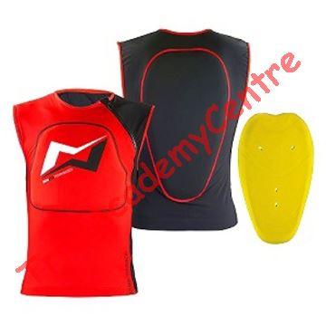 Immagine di Gilet traspirante con protezione schiena Mots Red fluo