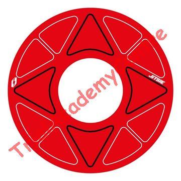 Immagine di Adesivo corona Jitsie 41-44 red