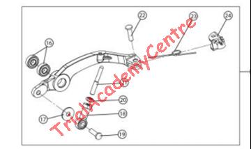 Immagine di Cuscinetto 8x19x6 pedale freno Gas Gas