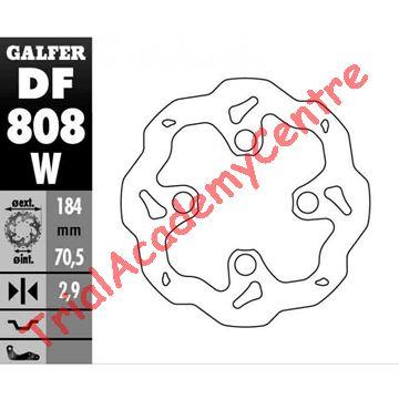 Immagine di Disco Freno Anteriore Galfer DF808W