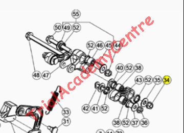 Immagine di Dado autobloccante flangiato leveraggio M10X1,25 Beta Evo