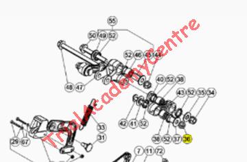 Immagine di Dado Autobloccante flangiato M8X1,25 vite bielletta Beta Evo