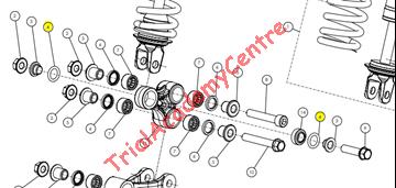 Immagine di Oring trapezio ammortizzatore Trs
