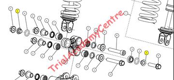 Immagine di Boccola trapezio ammortizzatore Trs