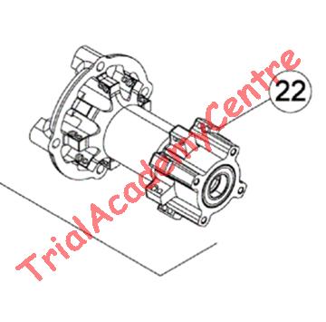 Immagine di Mozzo ruota Posteriore con cuscinetto Beta Evo 2t e 4t