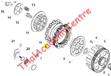Immagine di Disco frizione acciaio Beta 50-80cc