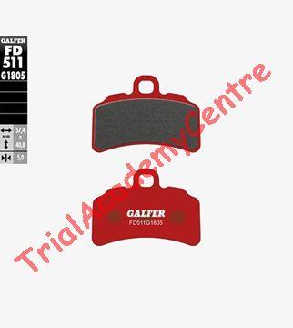 Immagine di Pastiglie freno anteriore Galfer rosse FD511