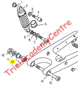 Immagine di Distanziale forcellone Beta TR34-Techno-Rev