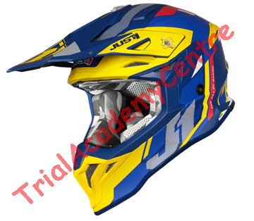 Immagine di casco just one j39 REACTOR YELLOW-BLUE-MATT