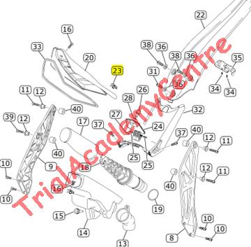 Immagine di Graffetta per vite chiusura sportellino serbatoio Vertigo
