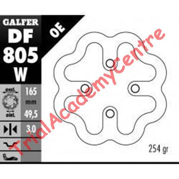 Immagine di Disco Freno posteriore Galfer DF805W Beta Rev