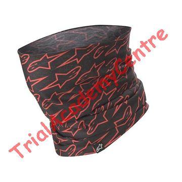 Immagine di Scaldacollo ALPINESTARS NECK TUBE  ASTARS BLACK / RED FLUO