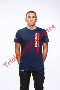 Immagine di T-Shirt Beta blue red stripe